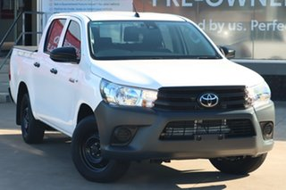 2020 Toyota Hilux TGN121R Workmate Double Cab 4x2 Glacier White 6 Speed Automatic Dual Cab.