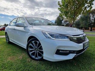 2018 Honda Accord 9th Gen MY17 VTi-L White 5 Speed Sports Automatic Sedan.