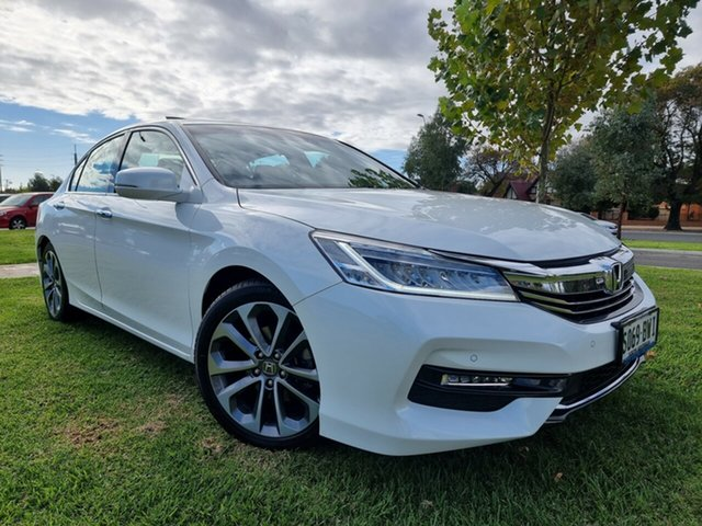 Used Honda Accord 9th Gen MY17 VTi-L Hindmarsh, 2018 Honda Accord 9th Gen MY17 VTi-L White 5 Speed Sports Automatic Sedan