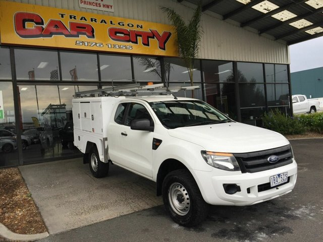 Used Ford Ranger PX XL 3.2 (4x4) Traralgon, 2013 Ford Ranger PX XL 3.2 (4x4) White 6 Speed Manual Super Cab Chassis
