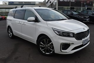 2019 Kia Carnival YP MY20 Platinum White 8 Speed Sports Automatic Wagon.