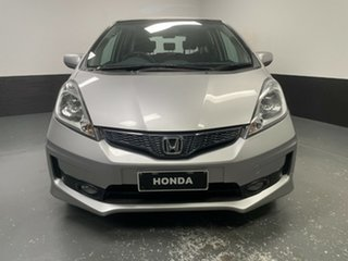 2012 Honda Jazz GE MY12 VTi Alabaster Silver 5 Speed Automatic Hatchback.