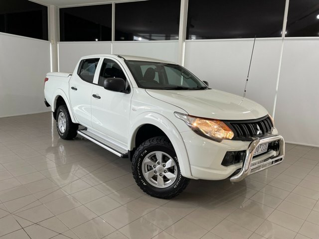 Used Mitsubishi Triton MQ MY16 GLX+ Double Cab Deer Park, 2016 Mitsubishi Triton MQ MY16 GLX+ Double Cab White 5 Speed Sports Automatic Utility