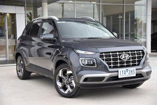 2021 Hyundai Venue QX.V3 MY21 Elite Grey 6 Speed Automatic Wagon.