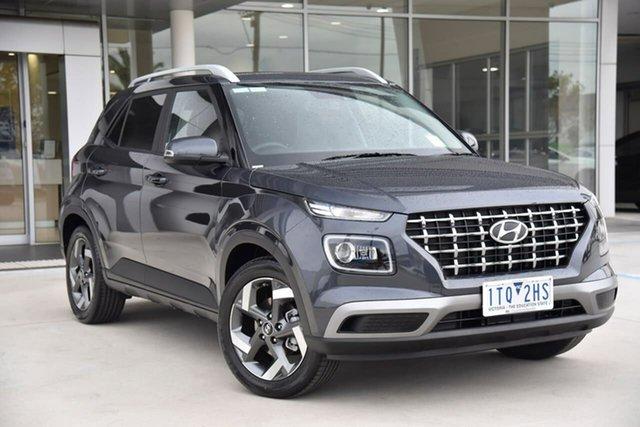 Demo Hyundai Venue QX.V3 MY21 Elite Oakleigh, 2021 Hyundai Venue QX.V3 MY21 Elite Grey 6 Speed Automatic Wagon