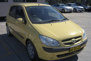 2007 Hyundai Getz TB MY06 Yellow 4 Speed Automatic Hatchback.