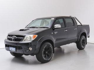 2008 Toyota Hilux KUN26R 08 Upgrade SR5 (4x4) Black 5 Speed Manual Dual Cab Pick-up.