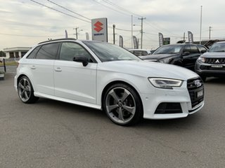 2018 Audi S3 8V MY18 Sportback S Tronic Quattro White 7 Speed Sports Automatic Dual Clutch Hatchback.