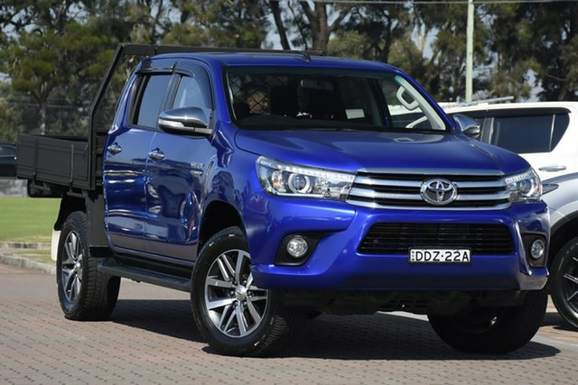 Pre-Owned Toyota Hilux GUN126R SR5 Double Cab Warwick Farm, 2016 Toyota Hilux GUN126R SR5 Double Cab Blue 6 Speed Sports Automatic Utility