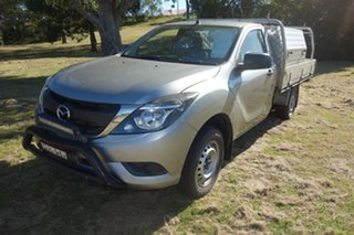 2018 Mazda BT-50 UR0YE1 XT 4x2 Silver 6 Speed Manual Cab Chassis.
