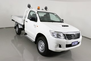 2014 Toyota Hilux KUN26R MY14 SR (4x4) White 5 Speed Manual Cab Chassis