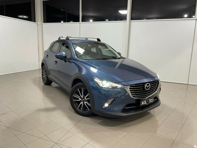 Used Mazda CX-3 DK2W7A sTouring SKYACTIV-Drive Deer Park, 2017 Mazda CX-3 DK2W7A sTouring SKYACTIV-Drive Blue 6 Speed Sports Automatic Wagon