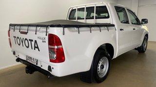 2011 Toyota Hilux KUN16R MY11 Upgrade SR White 5 Speed Manual Dual Cab Pick-up.