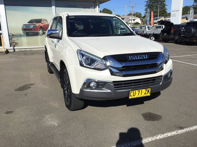 Pre-Owned Isuzu MU-X MY19 LS-U Rev-Tronic Cardiff, 2019 Isuzu MU-X MY19 LS-U Rev-Tronic White Pearl 6 Speed Sports Automatic Wagon
