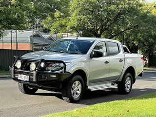 2017 Mitsubishi Triton MQ MY18 GLX+ Double Cab Silver 5 Speed Sports Automatic Utility.