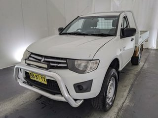 2009 Mitsubishi Triton ML MY09 GLX White 4 Speed Automatic Cab Chassis.