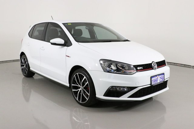 Used Volkswagen Polo 6R MY16 GTi Bentley, 2016 Volkswagen Polo 6R MY16 GTi White 6 Speed Manual Hatchback