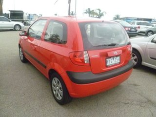 2007 Hyundai Getz TB MY07 Click Red 5 Speed Manual Hatchback