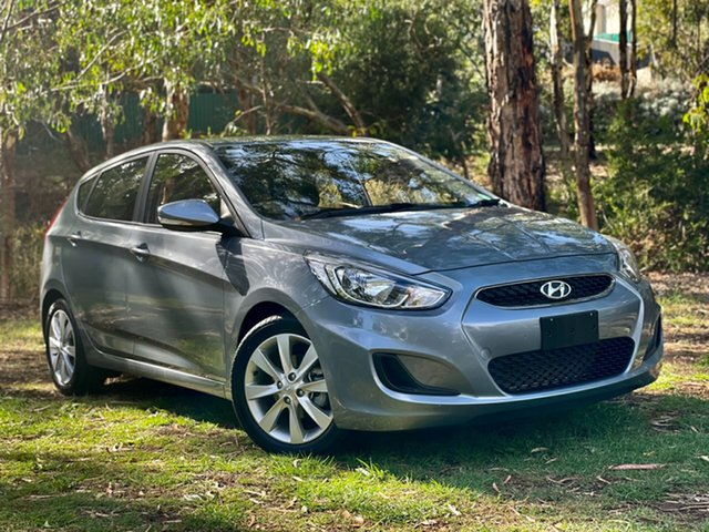 Used Hyundai Accent RB6 MY18 Sport Reynella, 2017 Hyundai Accent RB6 MY18 Sport Lake Silver 6 Speed Sports Automatic Hatchback