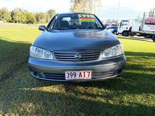 2005 Nissan Pulsar N16 MY2004 ST-L Purple 4 Speed Automatic Sedan.