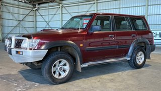 2004 Nissan Patrol GU IV MY05 ST Maroon 5 Speed Manual Wagon.