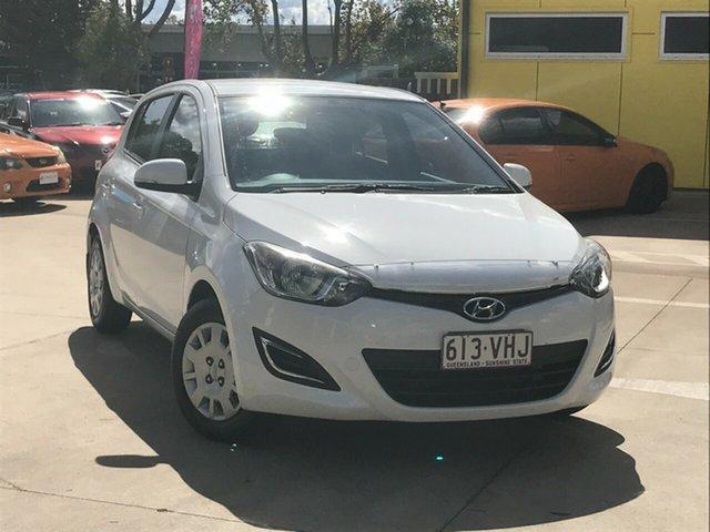 Used Hyundai i20 PB MY14 Active Toowoomba, 2014 Hyundai i20 PB MY14 Active White 4 Speed Automatic Hatchback