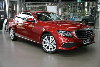 2017 Mercedes-Benz E-Class W213 E300 9G-Tronic PLUS Red 9 Speed Sports Automatic Sedan.