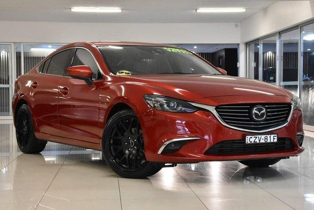 Used Mazda 6 GJ1022 Atenza SKYACTIV-Drive Waitara, 2015 Mazda 6 GJ1022 Atenza SKYACTIV-Drive Red 6 Speed Sports Automatic Sedan