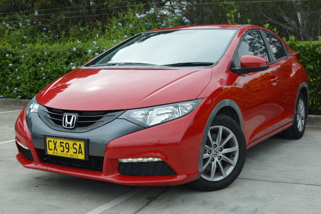Used Honda Civic 9th Gen MY13 VTi-S Maitland, 2013 Honda Civic 9th Gen MY13 VTi-S Red 5 Speed Sports Automatic Hatchback