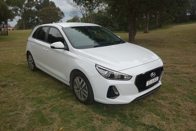 Used Hyundai i30 PD MY18 Active East Maitland, 2018 Hyundai i30 PD MY18 Active White 6 Speed Sports Automatic Hatchback