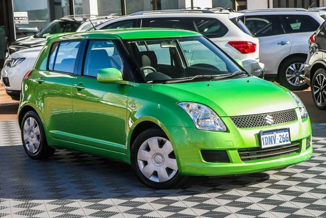Used Suzuki Swift RS415 Attadale, 2010 Suzuki Swift RS415 Green 5 Speed Manual Hatchback