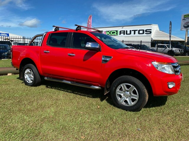 Used Ford Ranger PX XLT Double Cab Berrimah, 2014 Ford Ranger PX XLT Double Cab Red 6 Speed Sports Automatic Utility