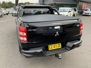 2017 Mitsubishi Triton MQ MY17 GLS Double Cab Sports Edition Black 6 Speed Manual Utility