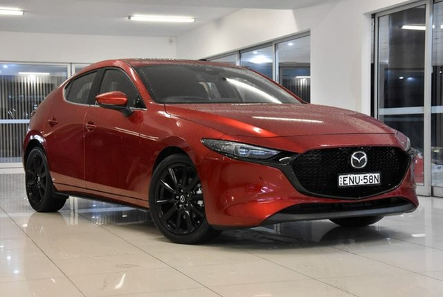 New Mazda 3 BP2HLA G25 SKYACTIV-Drive Astina Waitara, 2021 Mazda 3 BP2HLA G25 SKYACTIV-Drive Astina Red 6 Speed Sports Automatic Hatchback