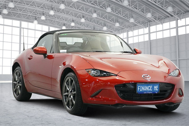 Used Mazda MX-5 ND GT SKYACTIV-Drive Victoria Park, 2016 Mazda MX-5 ND GT SKYACTIV-Drive Soul Red 6 Speed Sports Automatic Roadster