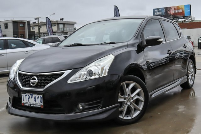 Used Nissan Pulsar C12 SSS Coburg North, 2013 Nissan Pulsar C12 SSS Black 1 Speed Constant Variable Hatchback