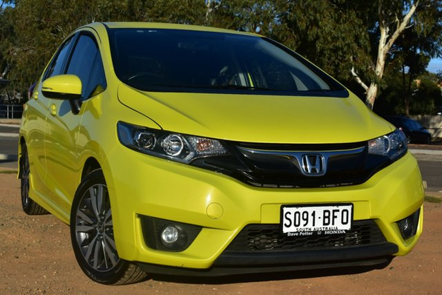 Used Honda Jazz GF MY15 VTi St Marys, 2015 Honda Jazz GF MY15 VTi Yellow 1 Speed Constant Variable Hatchback