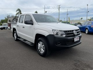 2011 Volkswagen Amarok 2H MY12 TDI340 4x2 White 6 Speed Manual Utility