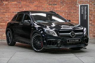 2018 Mercedes-Benz GLA-Class X156 808+058MY GLA45 AMG SPEEDSHIFT DCT 4MATIC Cosmos Black 7 Speed.