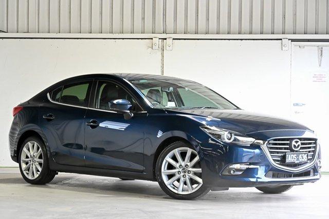 Used Mazda 3 BN5238 SP25 SKYACTIV-Drive GT Laverton North, 2017 Mazda 3 BN5238 SP25 SKYACTIV-Drive GT Blue 6 Speed Sports Automatic Sedan