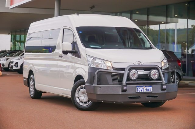 Used Toyota HiAce GDH322R Commuter High Roof Super LWB Gosnells, 2019 Toyota HiAce GDH322R Commuter High Roof Super LWB White 6 Speed Sports Automatic Bus