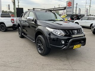 2017 Mitsubishi Triton MQ MY17 GLS Double Cab Sports Edition Black 6 Speed Manual Utility.
