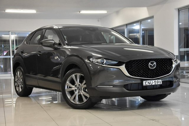Demo Mazda CX-30 DM2W7A G20 SKYACTIV-Drive Touring Waitara, 2021 Mazda CX-30 DM2W7A G20 SKYACTIV-Drive Touring Grey 6 Speed Sports Automatic Wagon