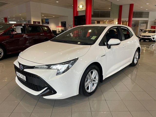 Used Toyota Corolla ZWE211R Ascent Sport E-CVT Hybrid Artarmon, 2019 Toyota Corolla ZWE211R Ascent Sport E-CVT Hybrid White 10 Speed Constant Variable Hatchback