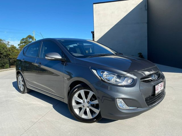 Used Hyundai Accent RB Active Cooroy, 2011 Hyundai Accent RB Active Grey 4 Speed Sports Automatic Hatchback