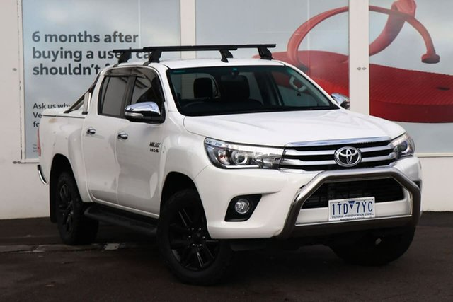 Pre-Owned Toyota Hilux GUN126R SR5 Double Cab Ferntree Gully, 2017 Toyota Hilux GUN126R SR5 Double Cab Glacier White 6 Speed Sports Automatic Utility
