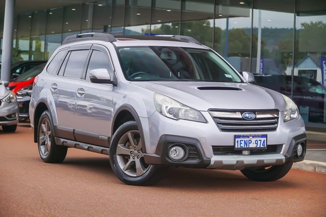 Used Subaru Outback B5A MY14 2.0D Lineartronic AWD Premium Gosnells, 2014 Subaru Outback B5A MY14 2.0D Lineartronic AWD Premium Silver 7 Speed Constant Variable Wagon