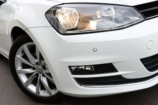 2013 Volkswagen Golf VII MY14 103TSI DSG Highline White 7 Speed Sports Automatic Dual Clutch.