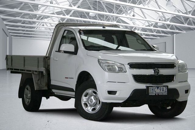 Used Holden Colorado RG MY16 LS (4x4) Altona North, 2016 Holden Colorado RG MY16 LS (4x4) White 6 Speed Manual Cab Chassis
