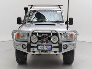 2014 Toyota Landcruiser VDJ79R MY12 Update GXL (4x4) Silver, Chrome 5 Speed Manual Cab Chassis.